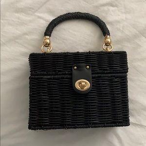 Zara black crossbody basket bag